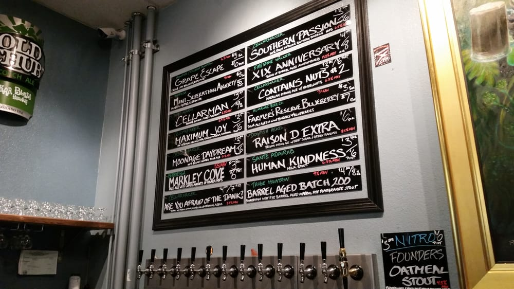 The menu that always changes yelp for Beer craft rohnert park