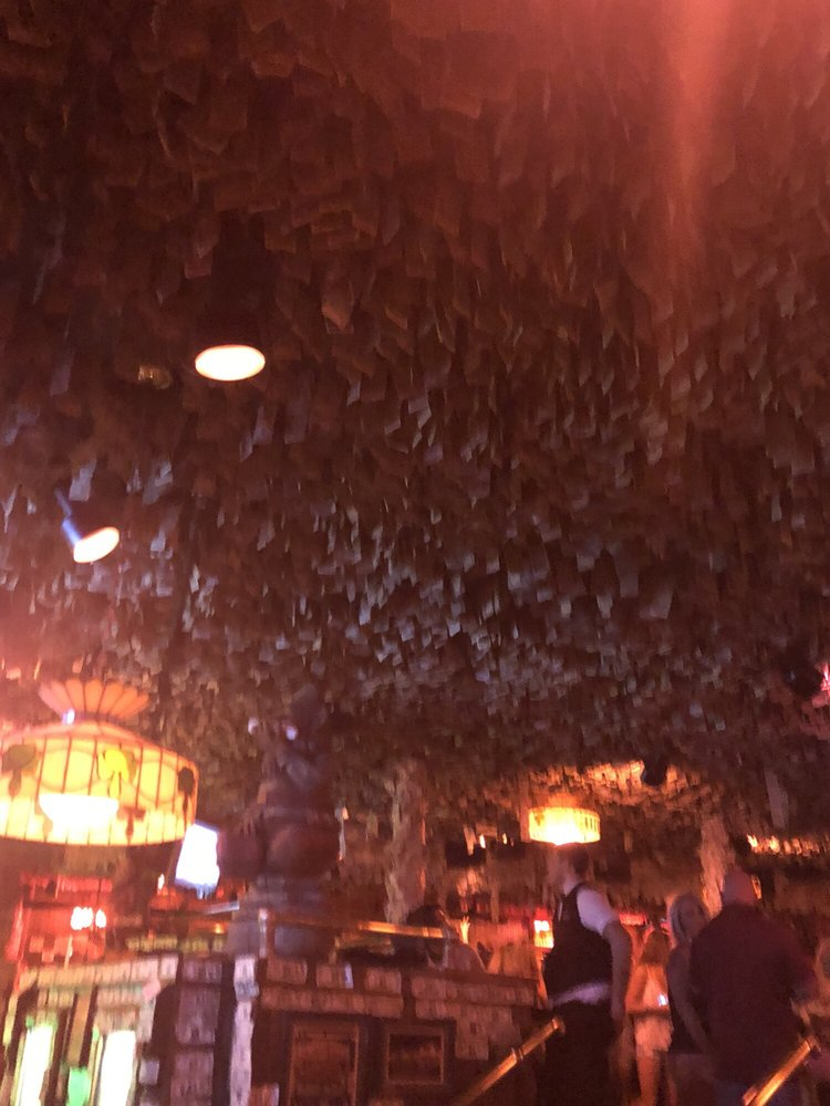 Over a million dollars in one dollar bills hanging from