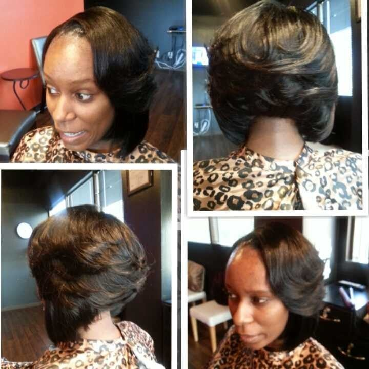 Full Sew In Weave With 14inch Straight Hair Yelp