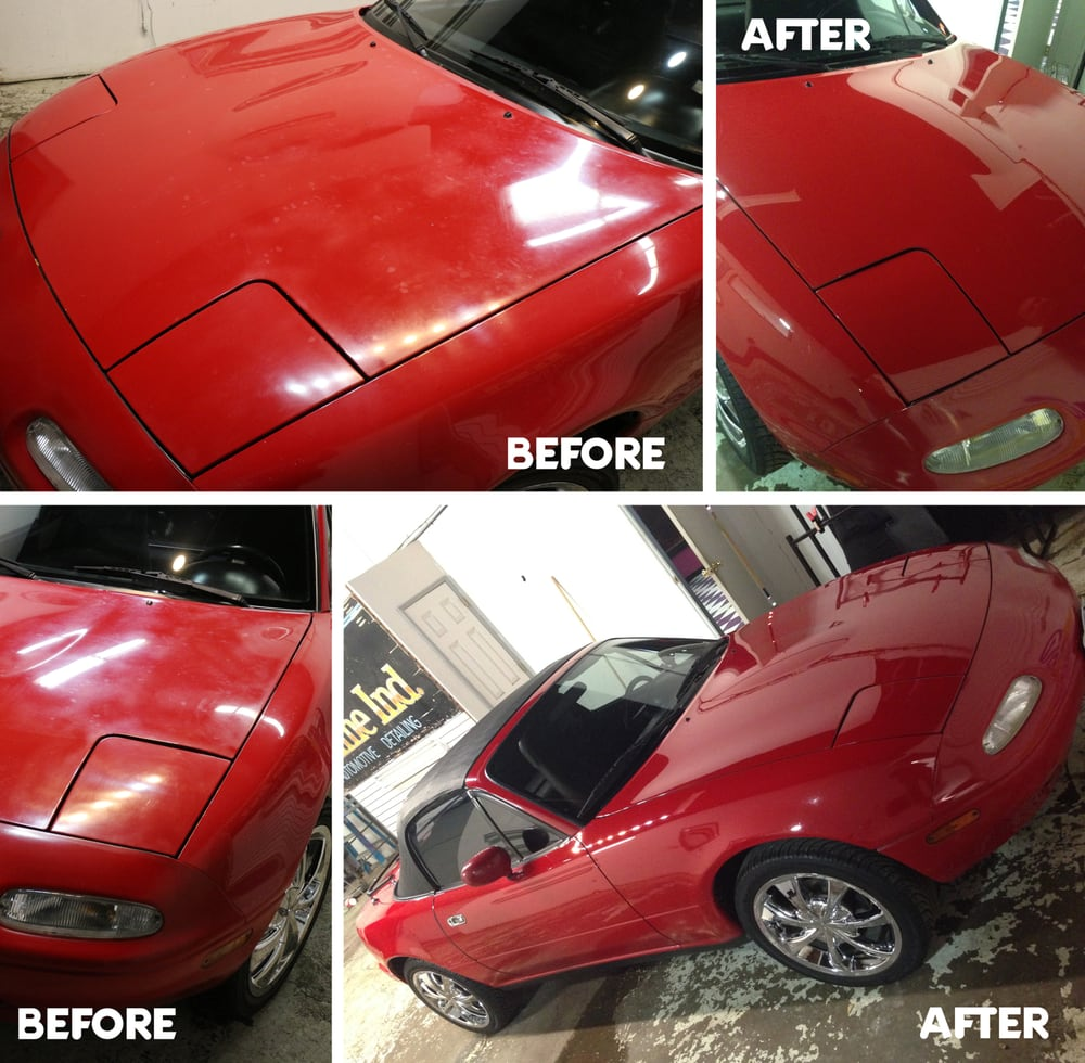 Before And After Composite Of My Mazda Miata It Looks Like A - Mazda detailing