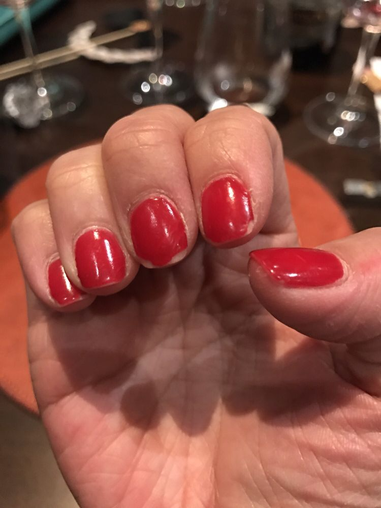Next gen nails after only one week. Tips wearing on 1/2 my nails. - Yelp