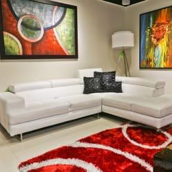 Photo Of Go Modern Miami Fl United States Bari Leather Sectional 104x84