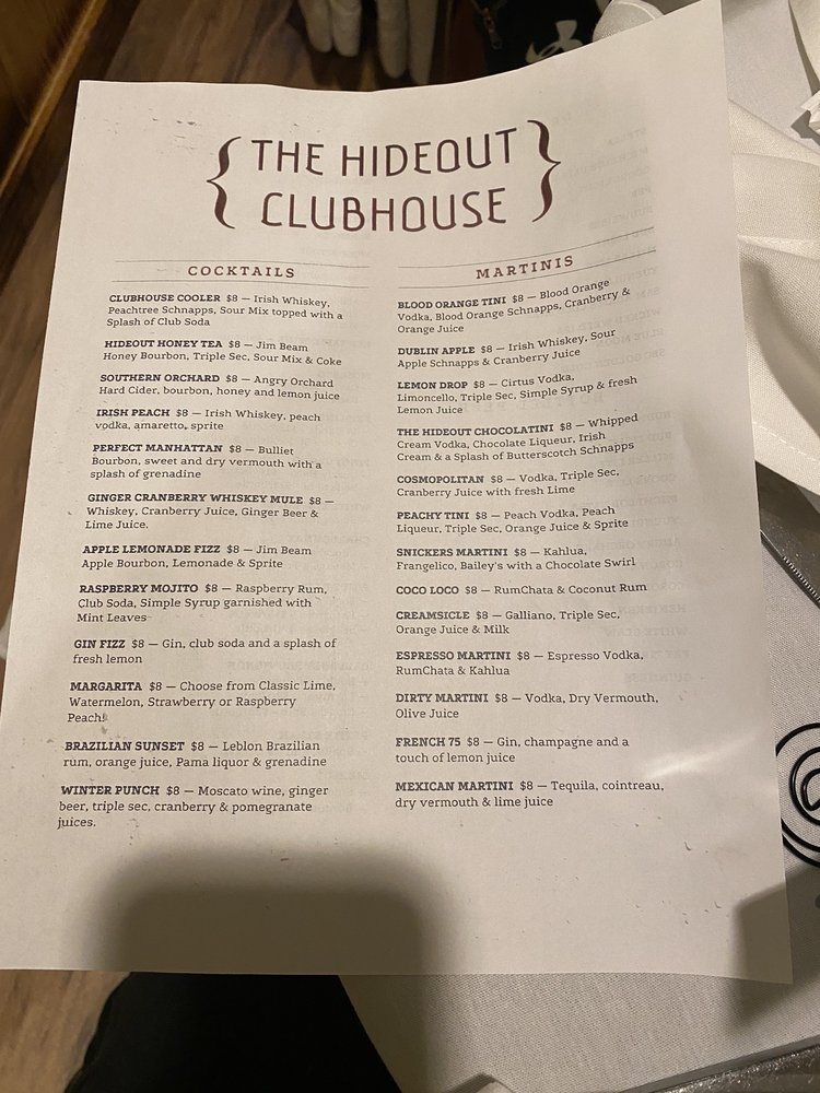 The Hideout Clubhouse: Lake Township, PA