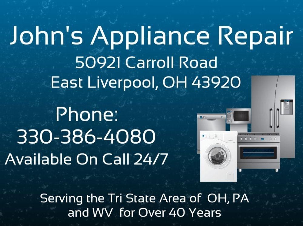 John's Appliance Service: 50921 Carroll Rd, East Liverpool, OH