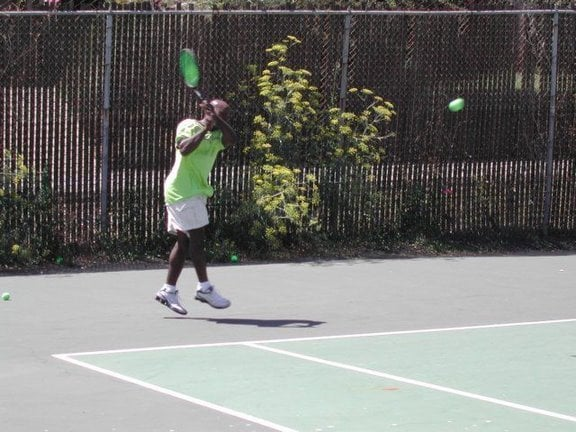 Photo of Tennis Lessons By Mcclain - San Francisco, CA, United States. Backhand follow through