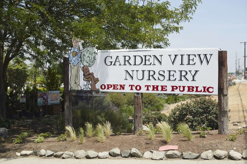 Garden View Nursery Driveway Entry Sign Yelp