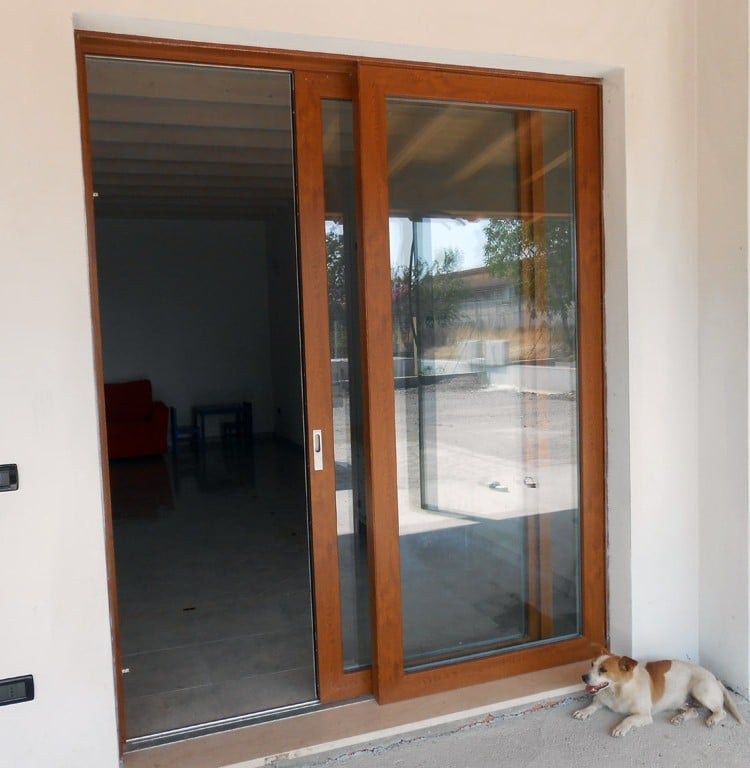 Porte scorrevoli in legno e vetro vn53 pineglen - Porte scorrevoli da esterno ...