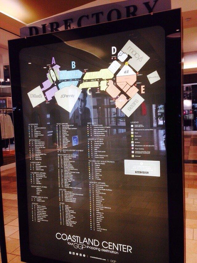 Coastland Mall Map Mall map check!   Yelp