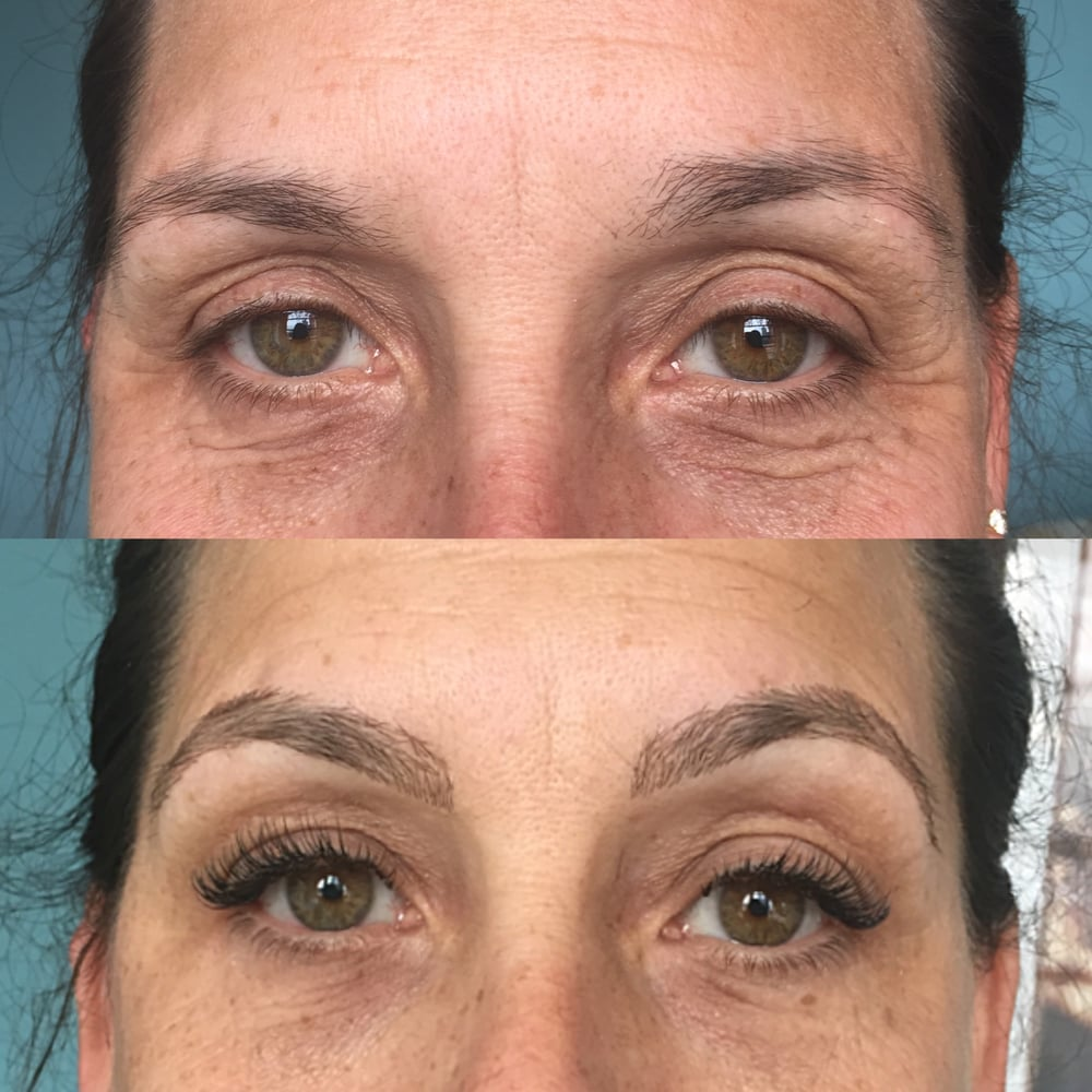 A Complete Eye Transformation Eyebrow And Eyelash Extensions Eye
