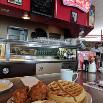 Photo of Pann's Restaurant - Los Angeles, CA, United States. Fried chicken  thigh
