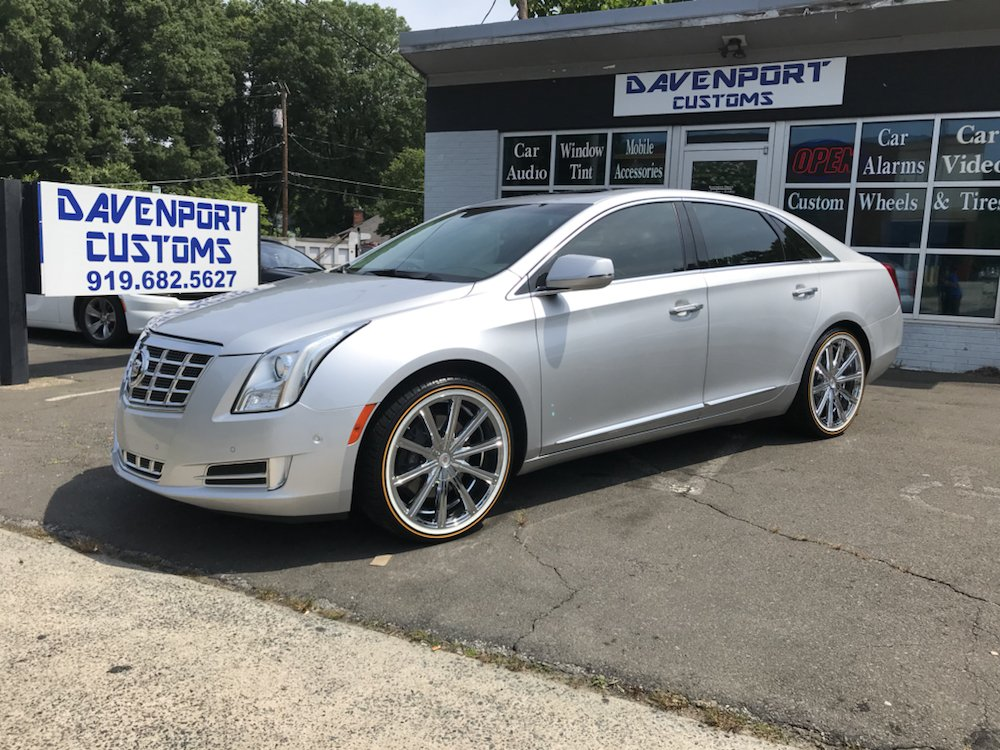 Cadillac Xts With 20 Chrome Rims On Vogue Tires Yelp
