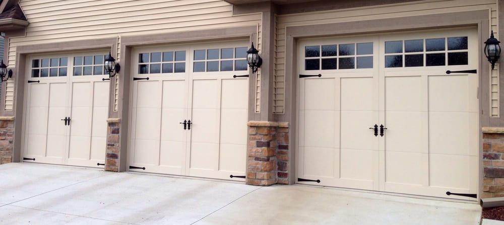 9 X 8 Chi Overhead Doors Model 5330 Color Almond Window