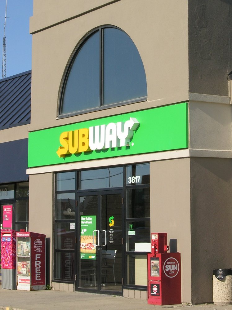 Subway 16 foto panini sandwich 3817 99th st for Kitchen cabinets 99 street edmonton