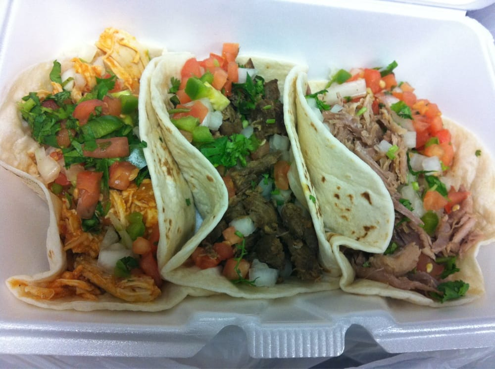 ... Soft tacos: chipotle chicken(special of the day), steak, and carnitas