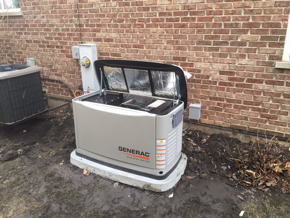 Whole House Generator Installation : Generac whole house backup generator install naperville il
