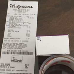 photo of walgreens los angeles ca united states receipt and expired product - Walgreens Prescription Card