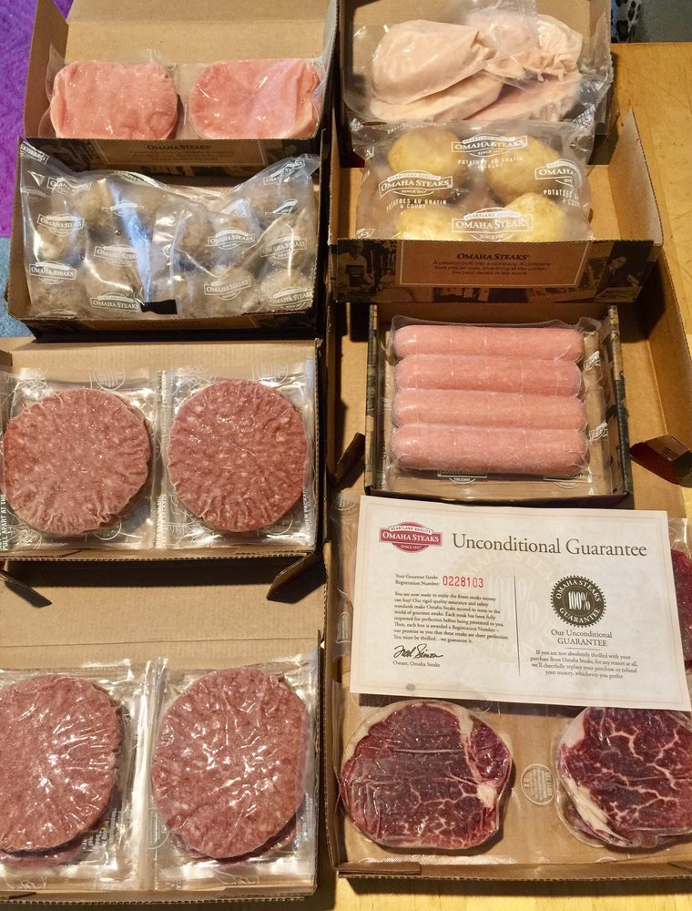 filet mignon, sirloin steaks, pork chops, gourmet franks, meatballs