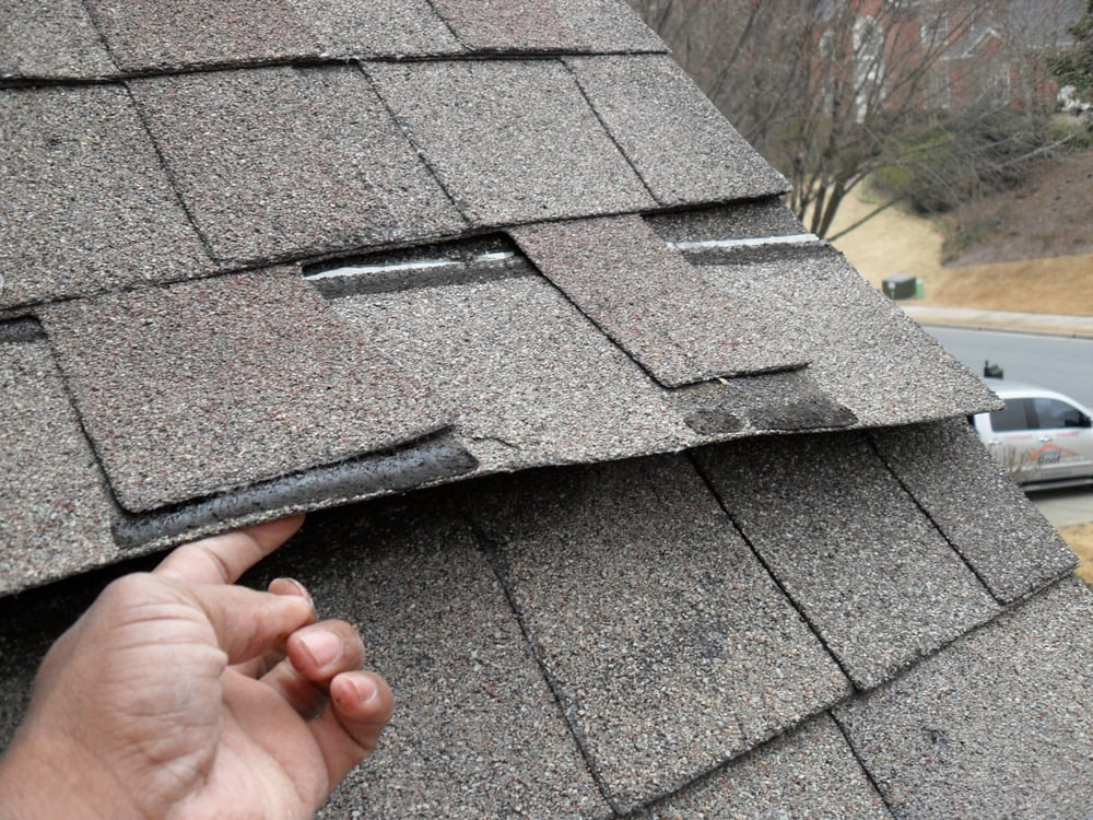 architectural shingles installation. Photo Of Georgia Roof Inspections - Norcross, GA, United States. Improperly Installed Architectural Shingles Installation