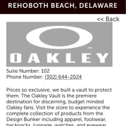 oakley outlet stores  photo of oakley vault rehoboth beach, de, united states
