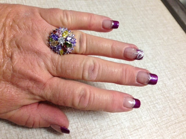 Karen worked her magic on my nails today 4-2-15 - Yelp