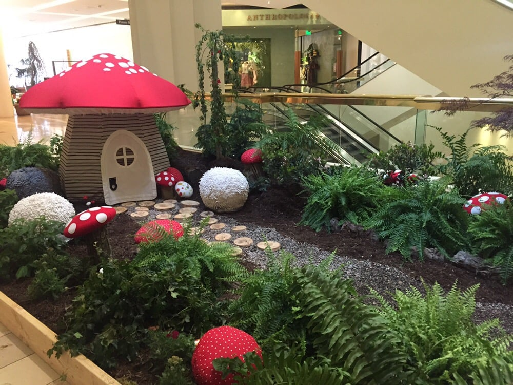 Photo of Land Of Nod - Costa Mesa CA United States. Adorable tent & Adorable tent and mushroom garden for the south coast plaza spring ...