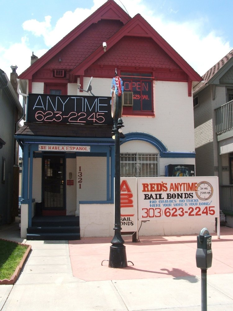 Red's Anytime Bail Bonds: 1321 Delaware St, Denver, CO
