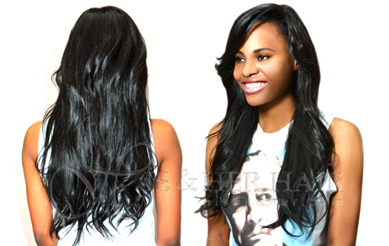 Hair Style by D'Lisa using Indian hair pressed and styled ...