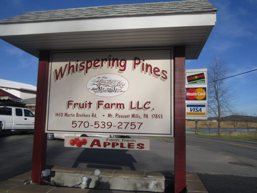 Whispering Pines Fruit Farms: 1652 Martin Brothers Rd, Mount Pleasant Mills, PA