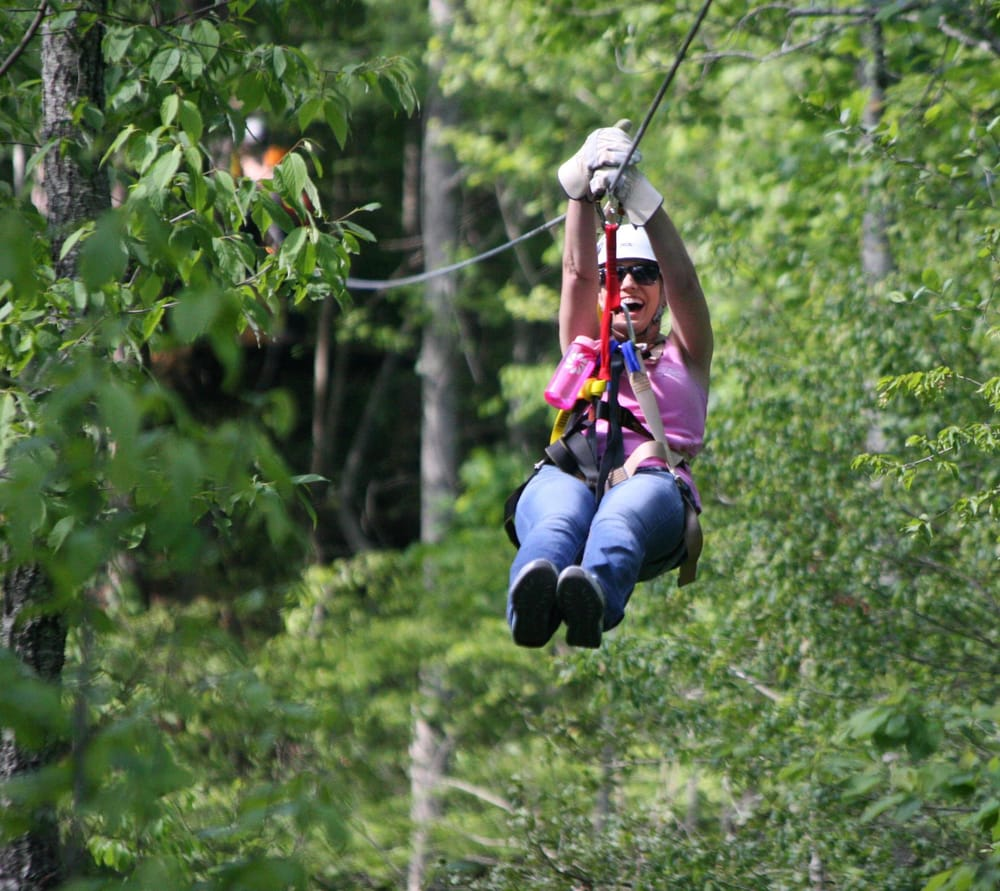 Zipline Canopy Tours: 891 Old Cashes Valley Rd, Blue Ridge, GA