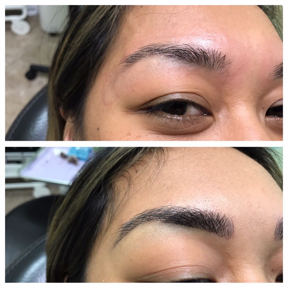 Microblading By Laxmi At Om Eyebrow Threading Yelp