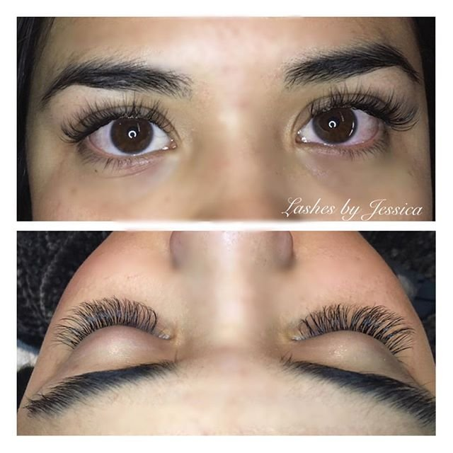 My Super Natural Looking Eyelash Extensions At Oceanne Salon By