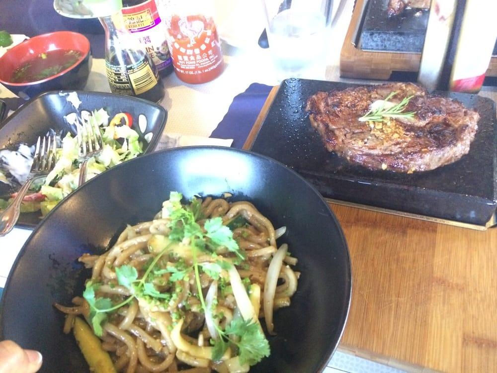 8oz Rib Eye Steak With Udon Yelp
