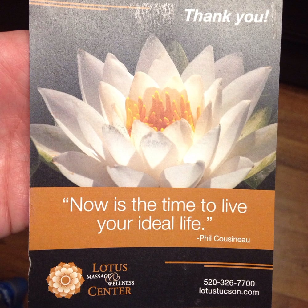 Thank You Note From Lotus Massage Yelp