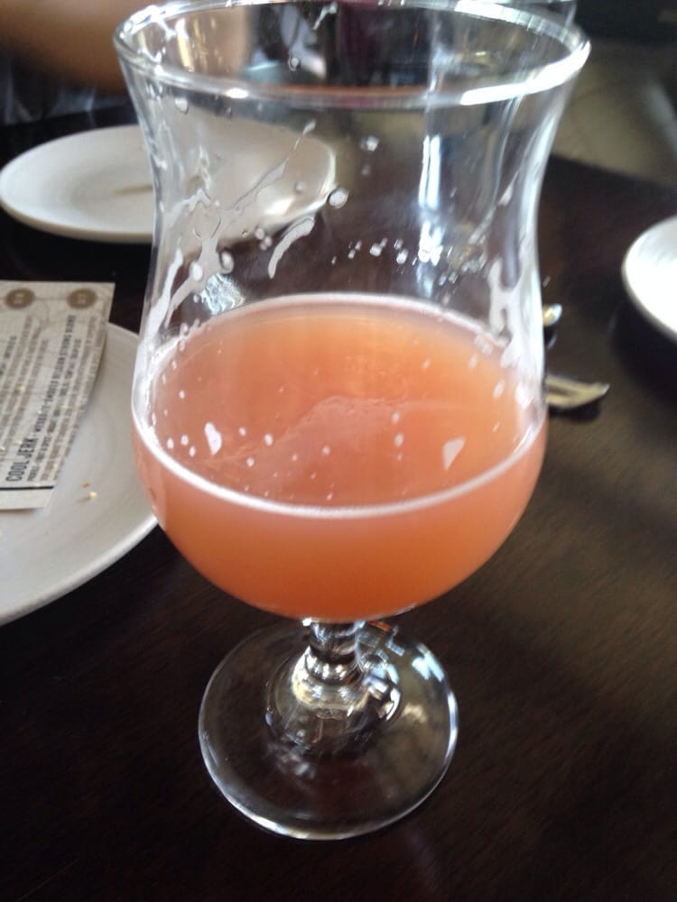 The Jam. Strawberry rhubarb beer that looks like a girly ...