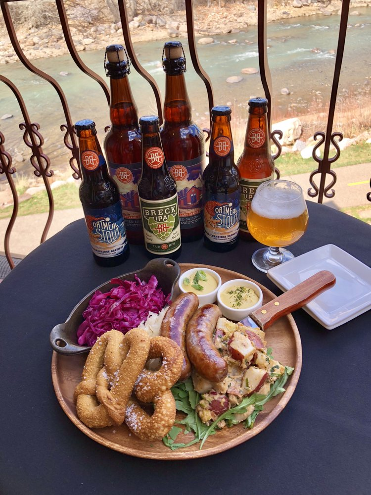 Food from Animas River Beer Garden