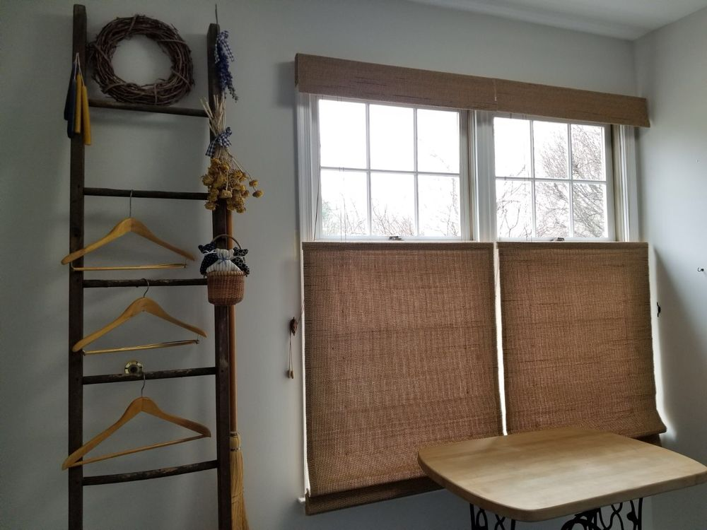 Top Down Bottom Up Woven Wood Shades With A Light