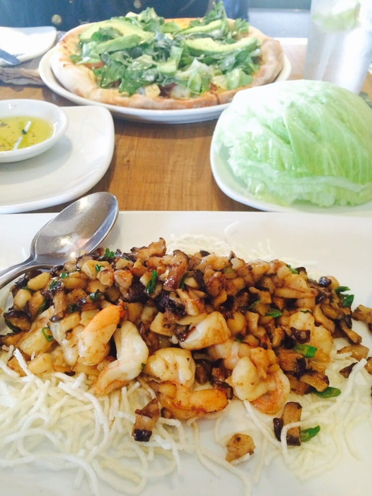 The Best Lettuce Wrap Shrimp Shiitake Mushrooms Water Chestnuts And Scallions Dressed With