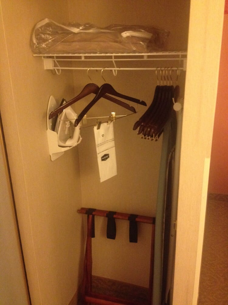 The Closet Has An Iron Ironing Board And Hangers Yelp