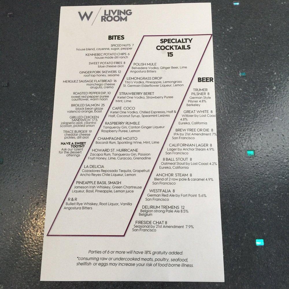Living Room menu - Yelp