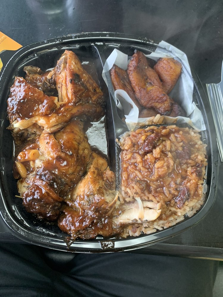 Food from Ena's Caribbean Kitchen