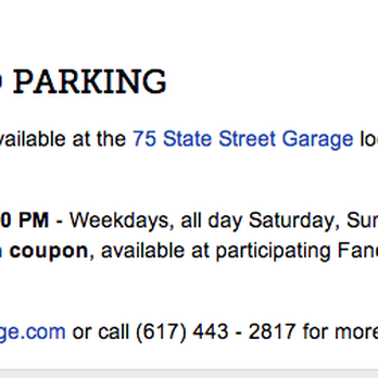 75 State Street Parking 28 Reviews Parking 5 Broad St