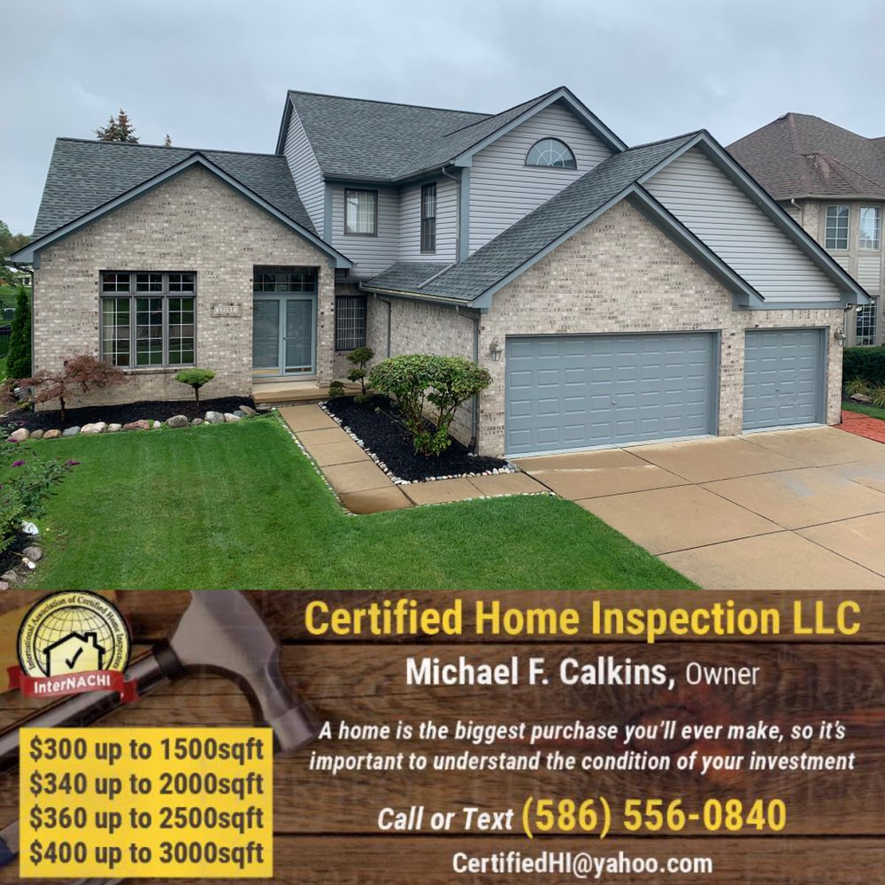 Certified Home Inspection: 22940 Remick Dr, Charter Township of Clinton, MI