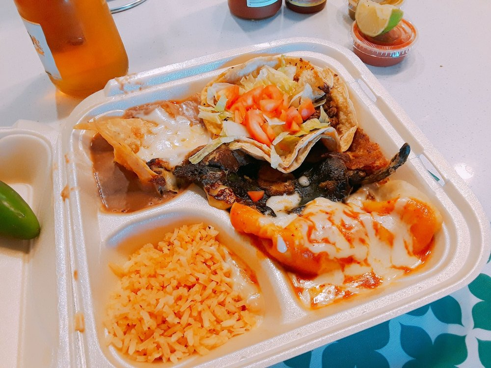 Food from Boss Burrito
