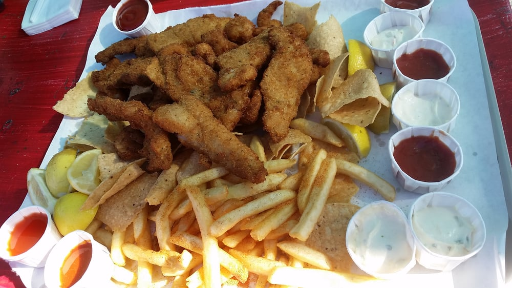 Homeboy special fish shrimp chips and fries good to for Long beach fish market