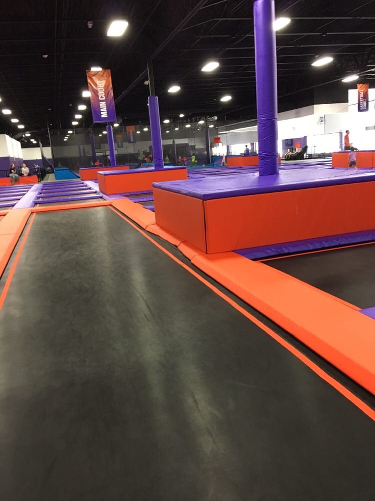 another view of general jumping area  very big and a lot