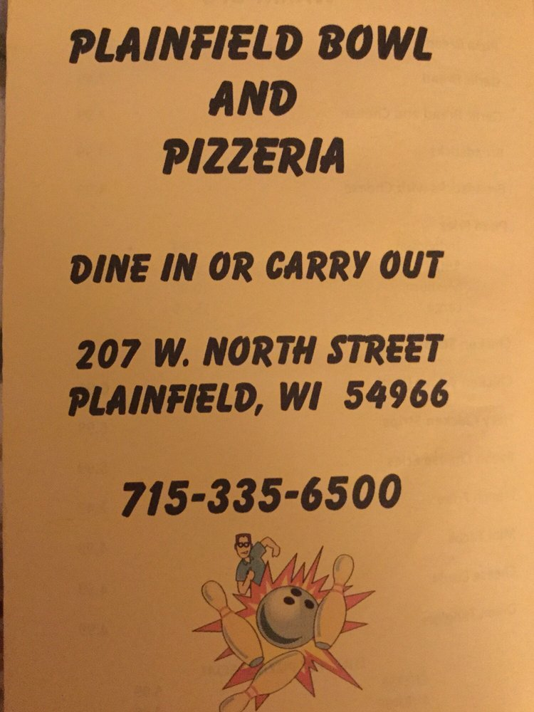 Plainfield Bowl & Bar: 207 W North St, Plainfield, WI