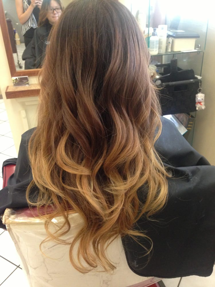 Black brown blonde ombr yelp - Ombre braun blond ...