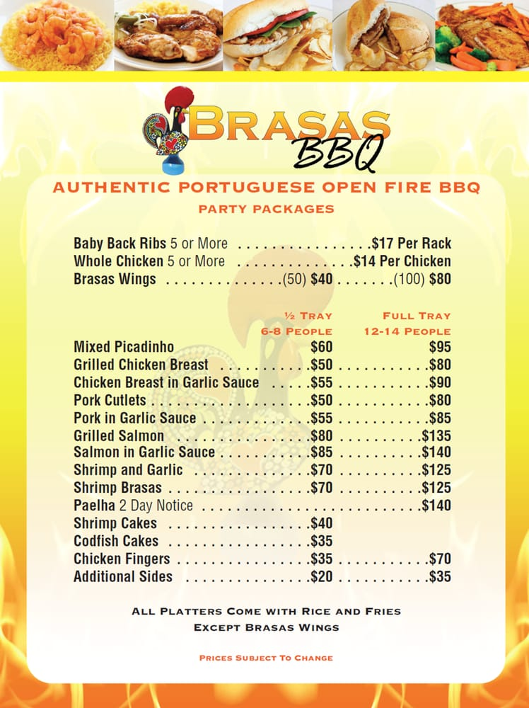 Brasas BBQ Toms River & Jersey Shore Catering Menu - Yelp
