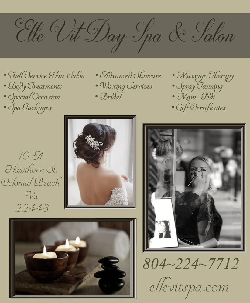 Elle Vit Day Spa & Salon: 10 Hawthorn St, Colonial Beach, VA