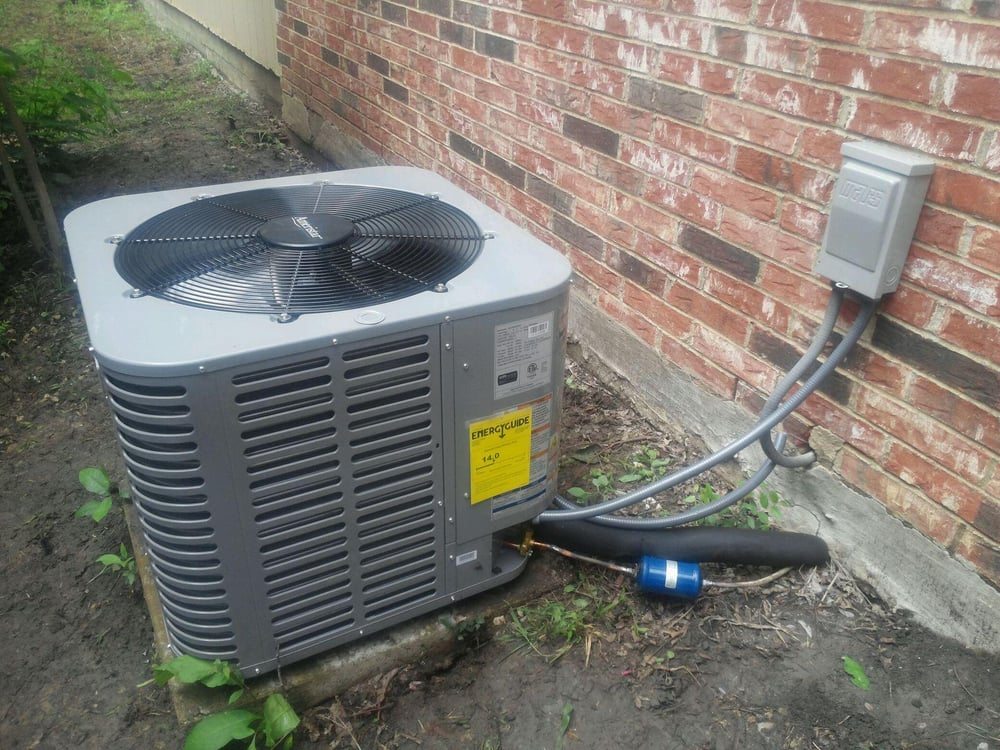 We Installed This New 14 Seer Condenser Along With New